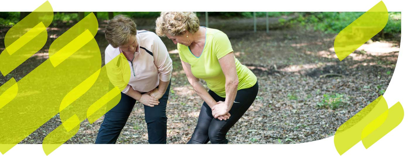 Personal Fitness Training zu zweit im Wald